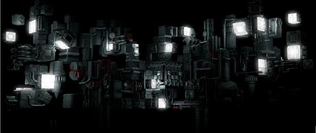 La structure du show dans des tonalités sombres, métalliques, industrielles