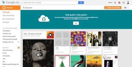 Google Play Music : entreposez 50 000 titres MP3 gratuitement