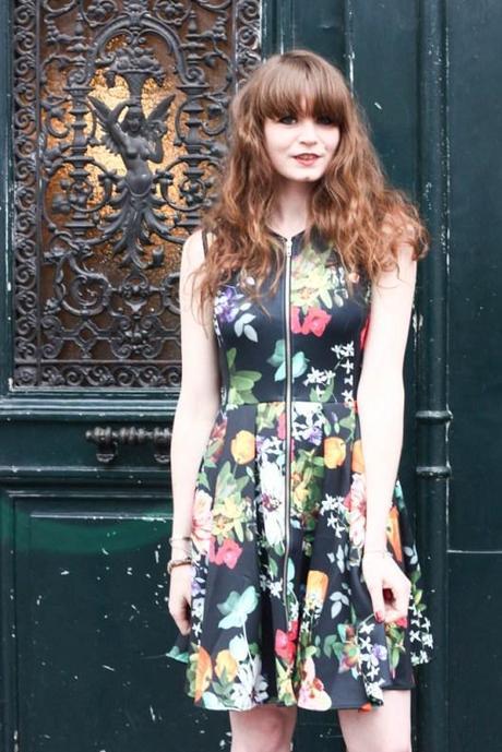 robe fleurs néoprène