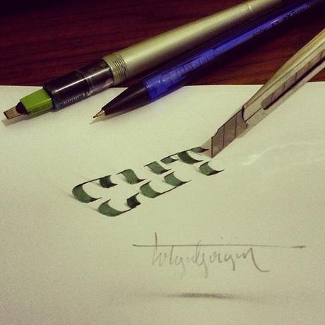 3D-Lettering-with-Parallelpen-Pencil8