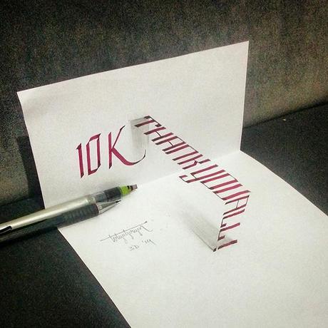 3D-Lettering-with-Parallelpen-Pencil10