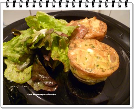 Omelette champignons - pommes de terre2