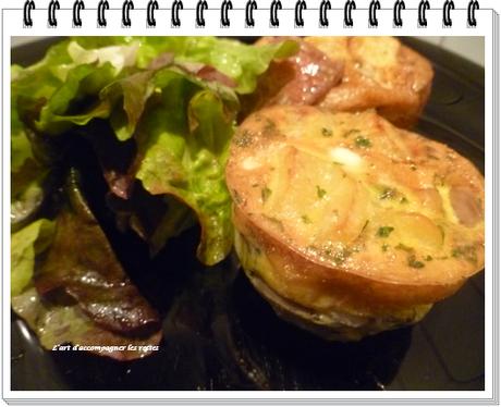 Omelette champignons - pommes de terre3