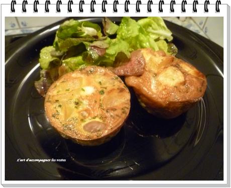 Omelette champignons - pommes de terre1