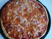 Pizza poulet/ lardons