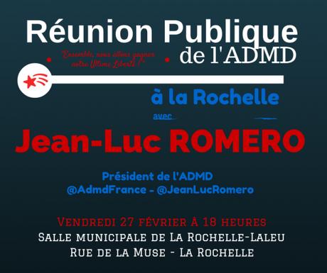 Réunion publique ADMD à La Rochelle à 18h00