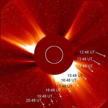 comète frôlant le Soleil