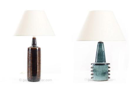 Lampe en céramique de Per Linnemann-Schmidt - Petite lampe en céramique d'Einar Johansen - Galerie Mobler