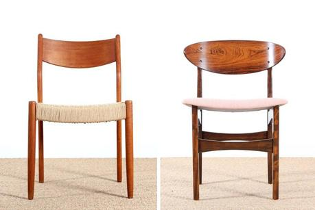 Chaise scandinave en teck - Chaises scandinave en palissandre de Rio - Galerie Mobler