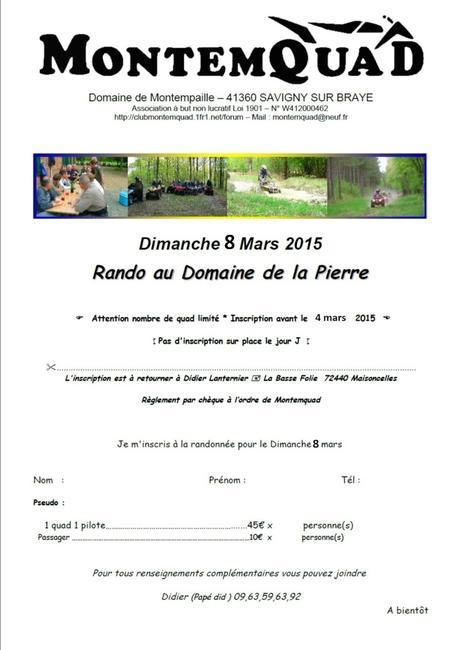 Rando au Domaine de la Pierre (41) le 8 mars 2015