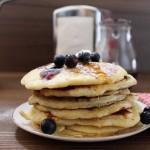 pancakes4 150x150 Cheesecake à la ricotta et aux myrtilles