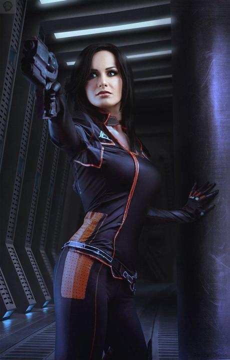 shooting by hannuki d74c69k Cosplay   Mass Effect   Miranda #60  mass effect Cosplay
