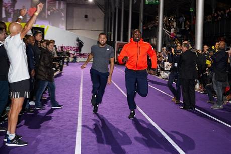 Teddy Riner et Jo Wilfried Tsonga en plein sprint