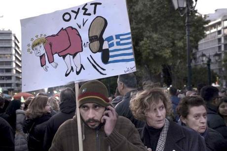 Dimanche 15 février, manifestation à Athènes