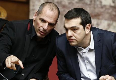 Yanis Varoufakis et Alexis Tsipras