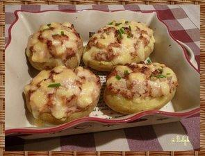 Pommes de terre farcies gratinées