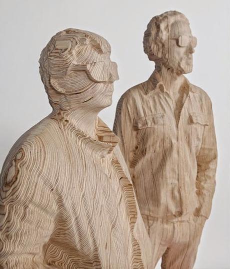Daft Punk sculptés (Xavier Veihlan chez Perrotin NYC)