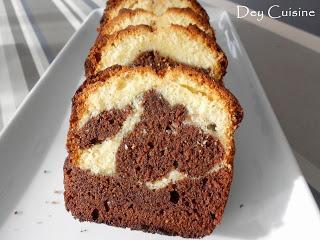 Gâteau marbré comme le Savane