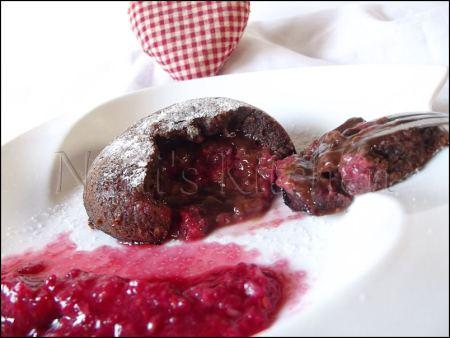 moelleux chocolat coeur framboises   (3)