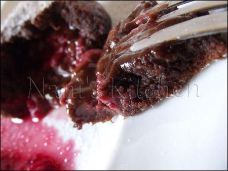 moelleux chocolat coeur framboises   (4)