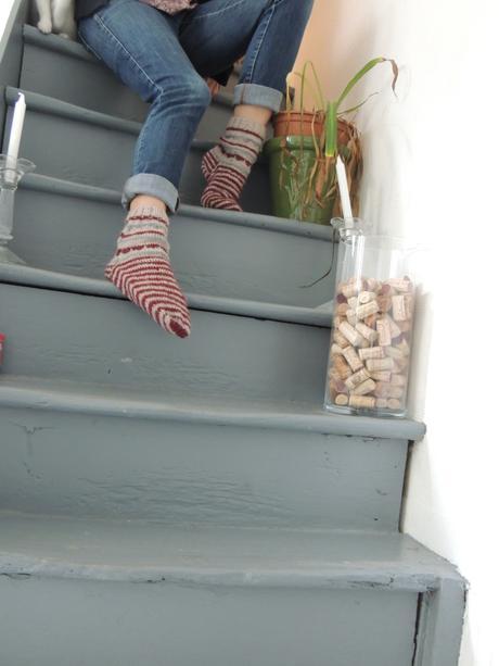 chaussettes escaliers