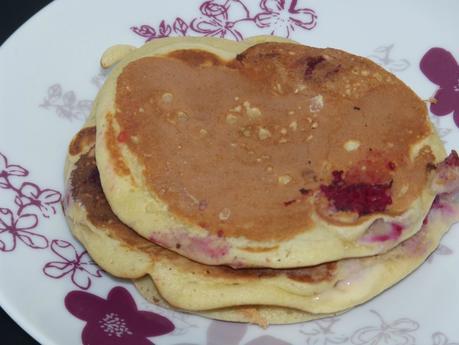 pancake fruits rouges