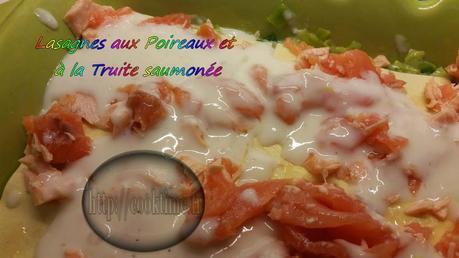 Lasagnes aux poireaux et truite saumonée Thermomix 4