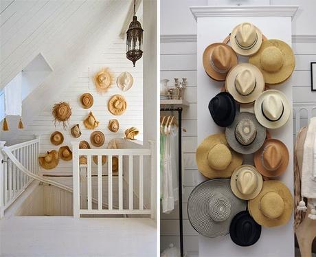 Decoration mur - collection chapeaux