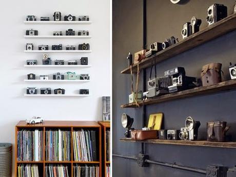 Decoration mur - collection appareils photos vintage