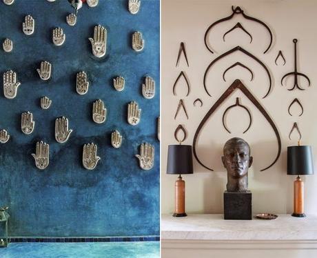 Decoration murale - collection objets perdus