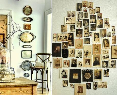 Decoration mur - collection cartes postales anciennes