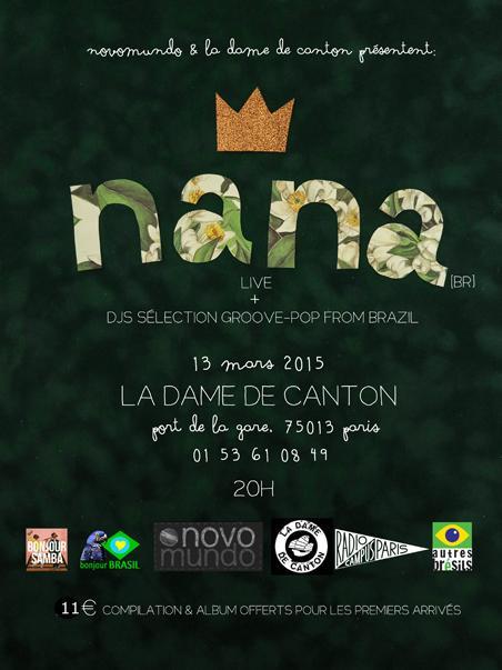 Concert et DJ set à la Dame de Canton (vendredi 13 mars)