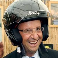 hollande et son casque (vignette)