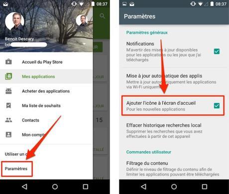 Android : comment désactiver l'ajout de l'icône d'une nouvelle application à l'écran d'accueil