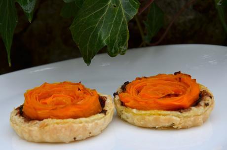 Tartelettes carottes et tapenade