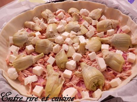 Quiche au Poulet / Coeurs d'artichauts et tofu soyeux