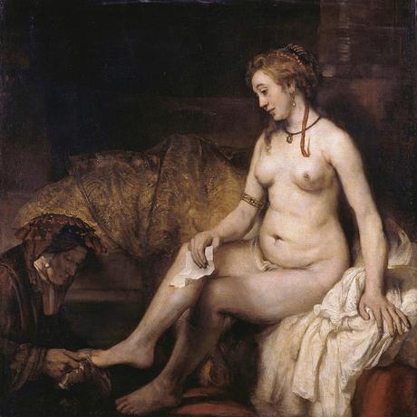 1654 bethsabee au bain tenant la lettre de david