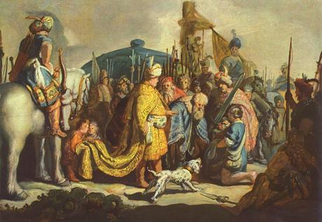 1627 david présentant à saul la tete de goliath