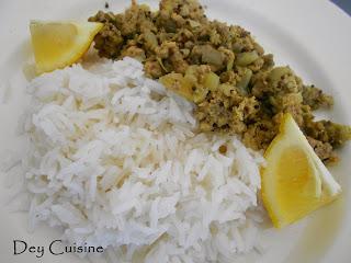 Curry de porc haché du Népal