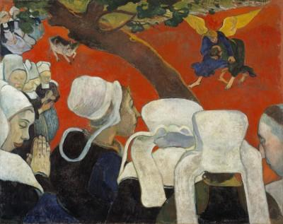 Paul Gauguin  La Vision du sermon, 1888  Huile sur toile, 72,2 x 91 cm  Scottish National Gallery, Édimbourg