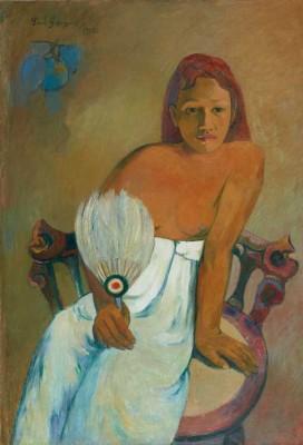 Paul Gauguin Femme à l'éventail, 1902   Huile sur toile, 91,9 x 72,9 cm  Museum Folkwang, Essen Photo: © Museum  Folkwang, Essen