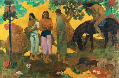 Paul Gauguin  Rupe Rupe, 1899  La Cueillette des fruits  Huile sur toile, 128 x 190 cm