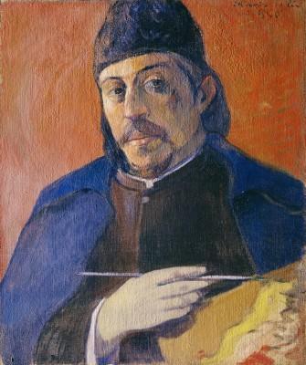 Paul Gauguin  Autoportrait à la palette, vers 1893/94  Huile sur toile, 92 x 73 cm  Collection particulière