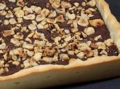 Tarte chocolat noisettes grillées