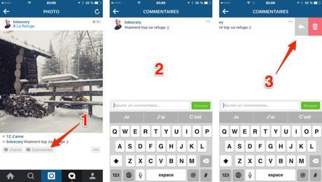 Instagram : comment supprimer l'un de vos commentaires