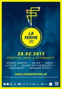 Festival La Ferme: Moaning Cities à la Ferme du Biéreau- Louvain-la-Neuve, le 28 février 2015