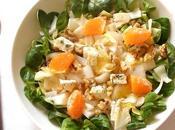 Salade d'endives noix bleu agrumes
