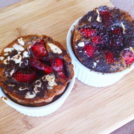 Crêpes cupcakes fraises et chocolat noir inspiration Parents Pressés Recettes Futés #Cuisinerenfamille