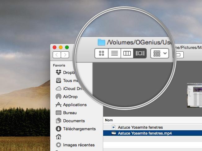 Astuce OS X Yosemite: comment fusionner les fenêtres