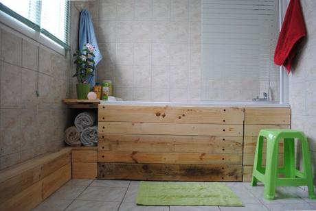 D co un tablier de baignoire en bois brut paperblog - Dessous de baignoire ...